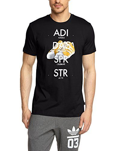 adidas Herren T-Shirt Superstar Shoe Tee, Black, XL, S19179