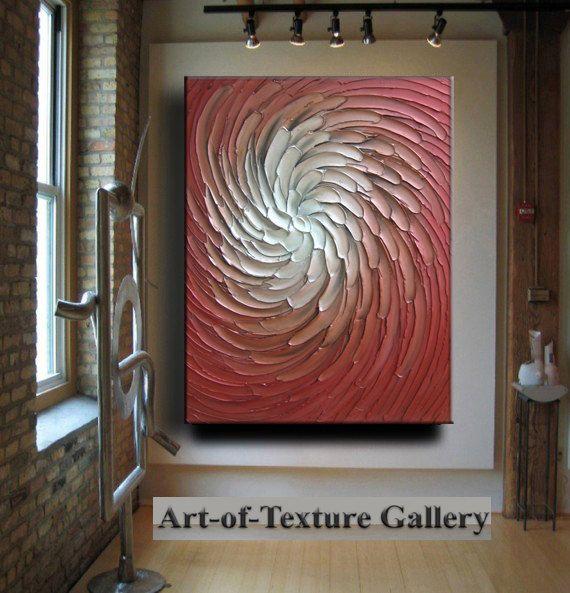 Original Abstract Huge Texture Modern Ruby Red by artoftexture