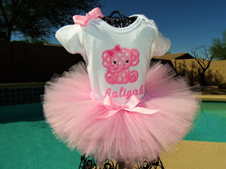 Baby Elephant tutu outfit by TutuCuteandBowTastic on Etsy