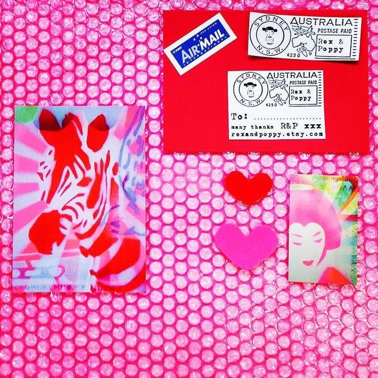 #kawaii #zebra #postcard #print #etsy #etsyshop #etsyseller #harajuku #tokyo #japan #indie #design #decora #cute #art #mail #post #instagram #instadaily #instamood #pink #streetart #stencil #urbanart by rexandpoppy