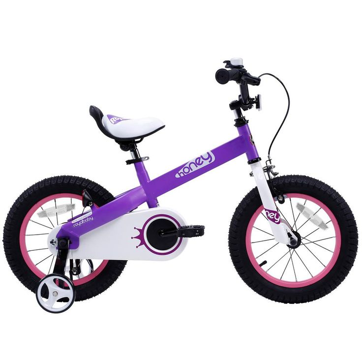 Honey Kid's Bike, Perfect Gift For Kid's, Boy's Bike, Girl's Bike, 14 in. Wheels in Lilac, Purples/Lavenders