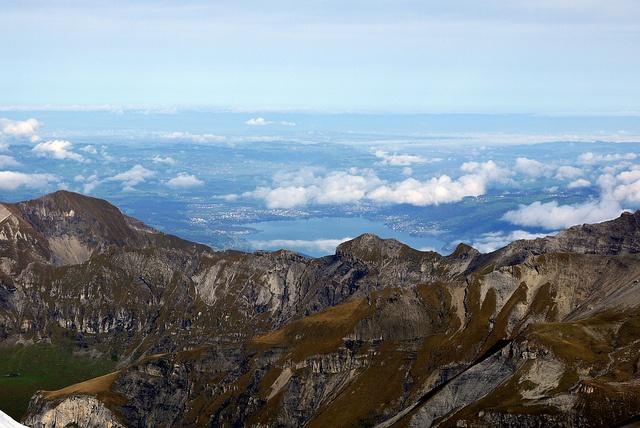 Interlaken as Viewed from Piz Gloria (Schilthorn), Switzerland