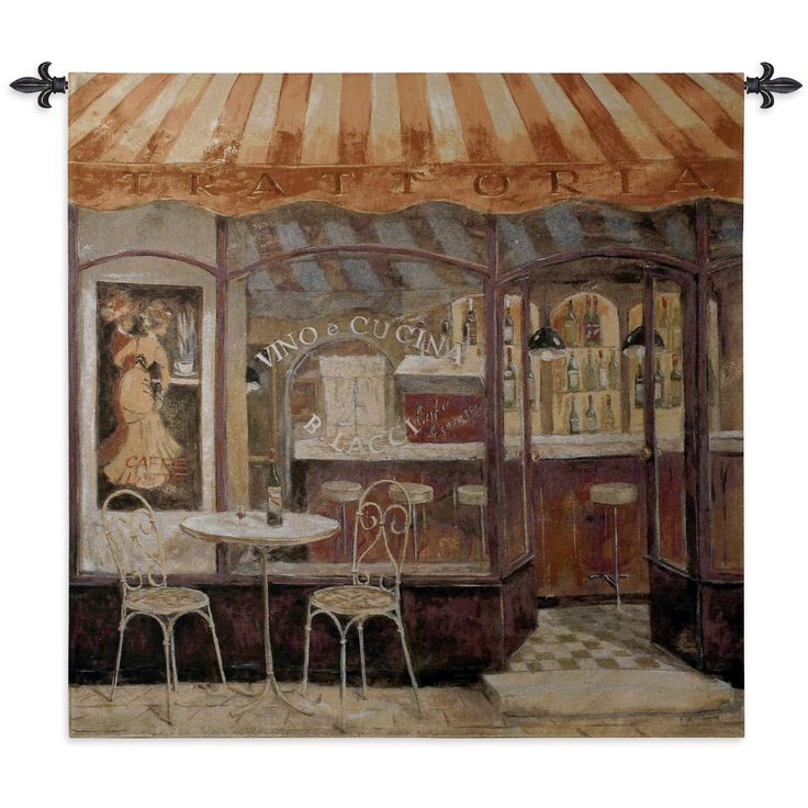 Fine Art Tapestries 'Italian Cafe' Wall Tapestry