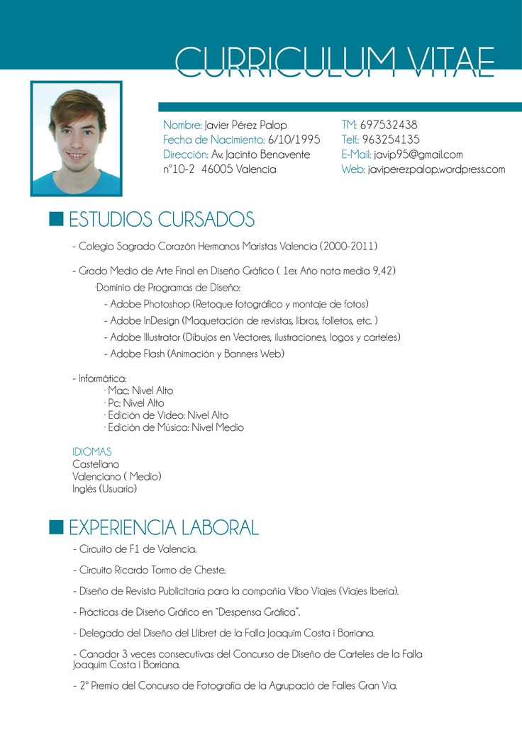 Best 25 Ejemplos Curriculum Vitae Ideas On Pinterest