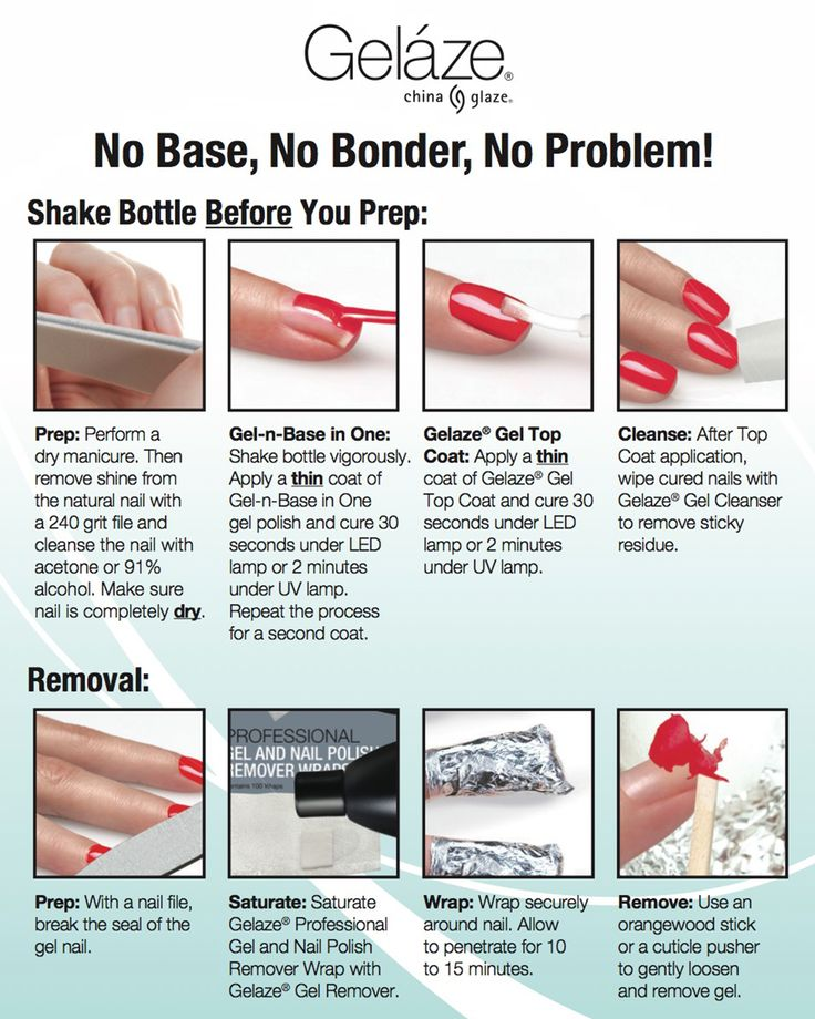 Gel Nail Polish How To: How To Apply And Remove Gelaze Gel Polish