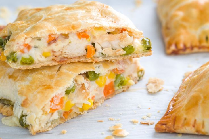 "Chicken Pot Pie Homemade ""Hot Pockets""  - Delish.com"