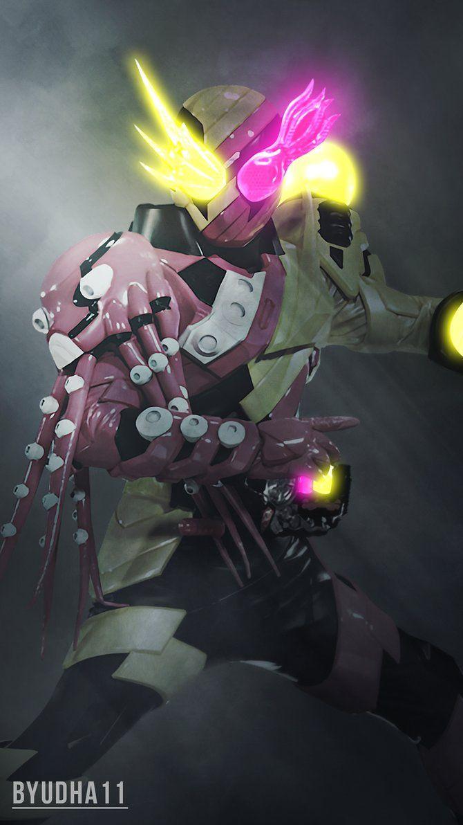 Kamen Rider Build : Octopus Light Wallpaper V.02 by Byudha11