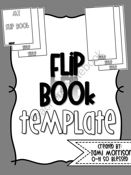 Flip Book Template FULLY EDITABLE! from O-H So Blessed on