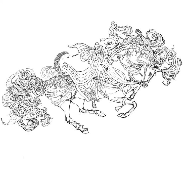 Carousel Horse Outline By SweetsParade On DeviantART