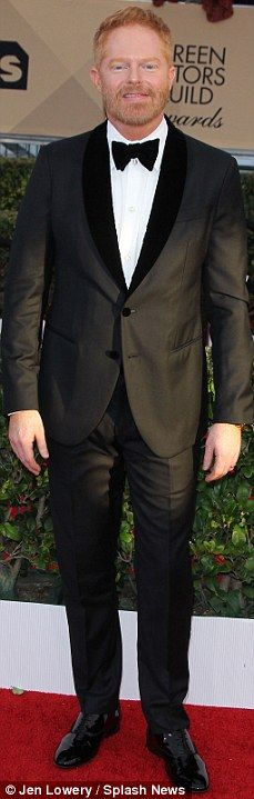 Suited and booted: (L-R)Tony Hale, Alfie Allen, Jim Parsons and Jesse Tyler Ferguson were...