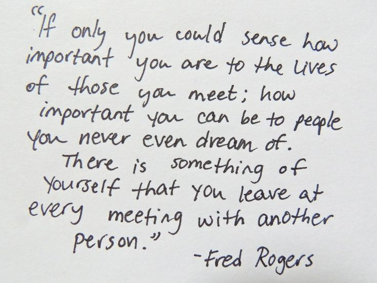 Mr. Rogers--one of the greatest influences on American children.  Thank goodness!  via white paper quotes