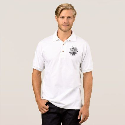 Vintage Roses Bouquet Polo Shirt - #customizable create your own personalize diy