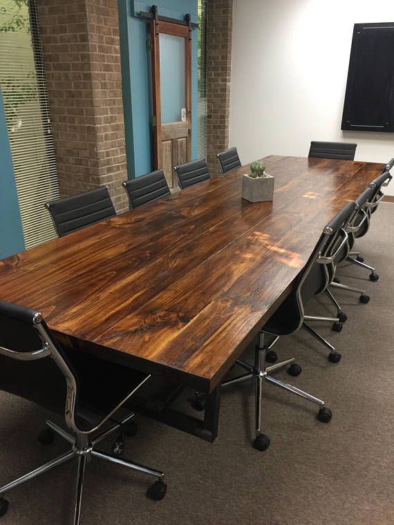 Conference Table W Trapezoid Shaped Iron Base Home Pinterest - Trapezoid conference table