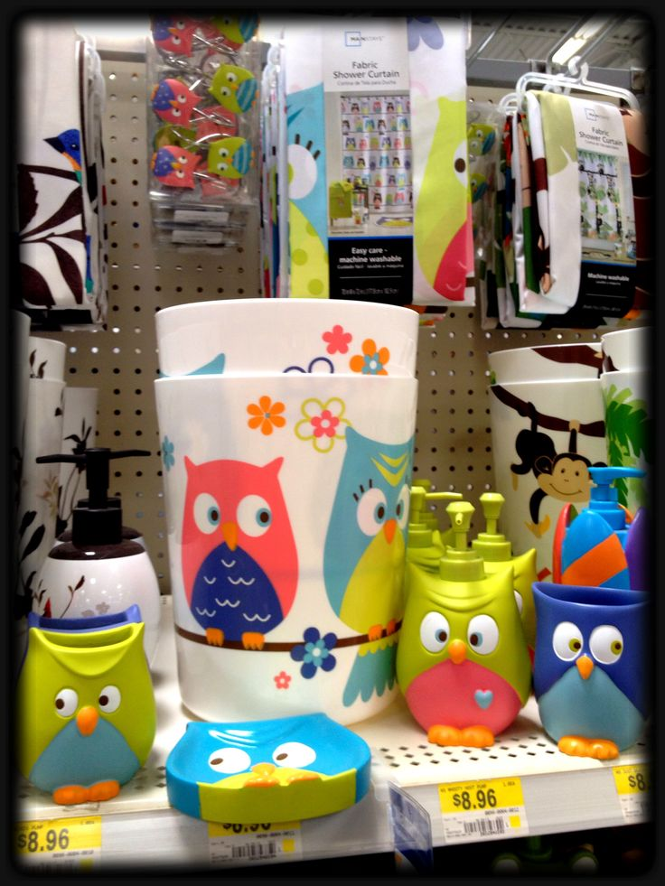 walmart owl set for the bathroom owls pinterest owl bathroom and walmart. Black Bedroom Furniture Sets. Home Design Ideas