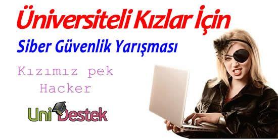 Sadece üniversiteli kızlar için siber güvenlik yarışması...  #hacker #kız http://unidestek.net/kizimiz-pek-hacker/