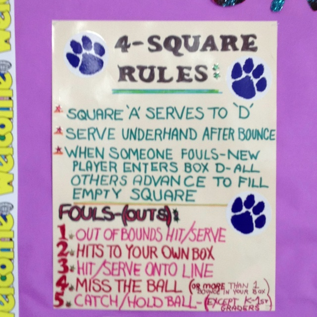 4Square Rules ideas Pinterest