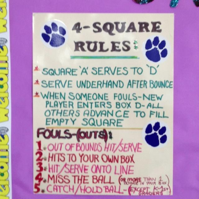 4Square Rules ideas Pinterest