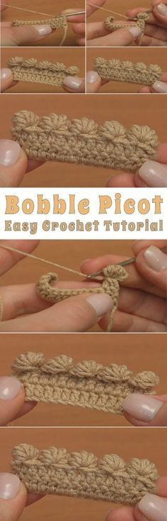 Bobble Picot Easy Crochet Tutorial #CrochetEdging
