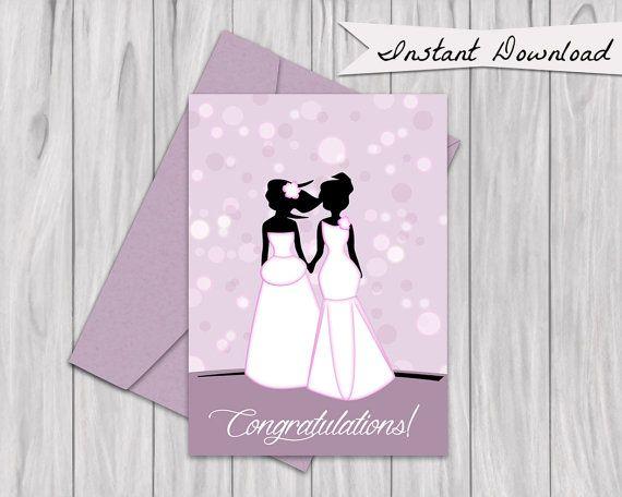 Printable Cute Pink Congratulations Wedding card