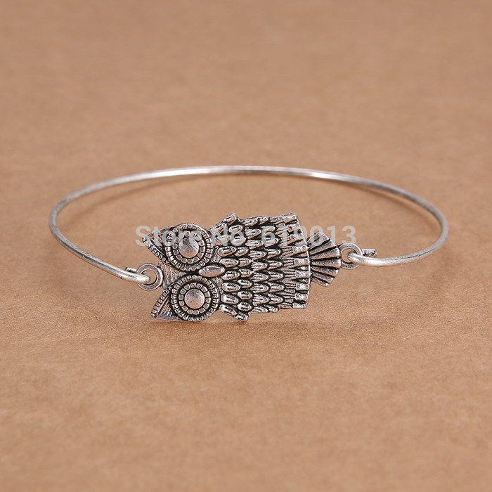 Creative Jewelry Antique Silver Personalized Charm Animal Bracelets Bangles Handmade Jewelry Cute animal brancelets