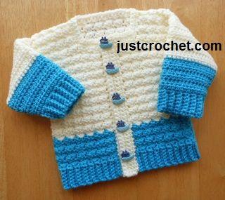 Free baby crochet pattern boys cardigan usa