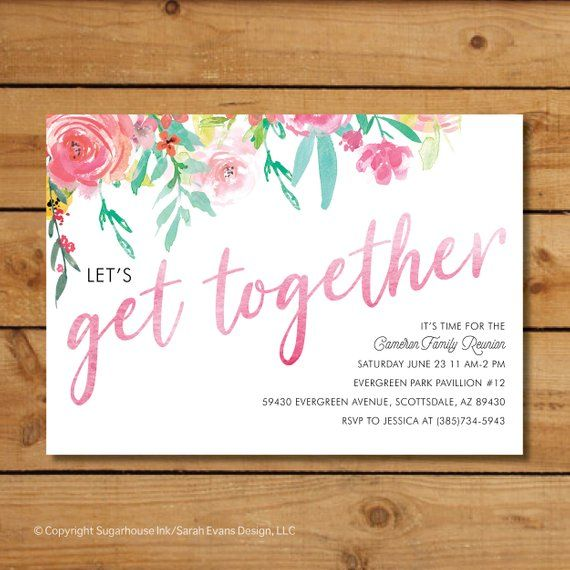 Let S Get Together For A Family Reunion Invitation Reunion Invitations Family Reunion Invitations Family Reunion