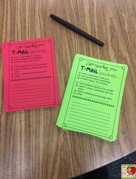 Teacher Mail I love this idea of having your students leave you notes Great for building both writing skills & relationships!