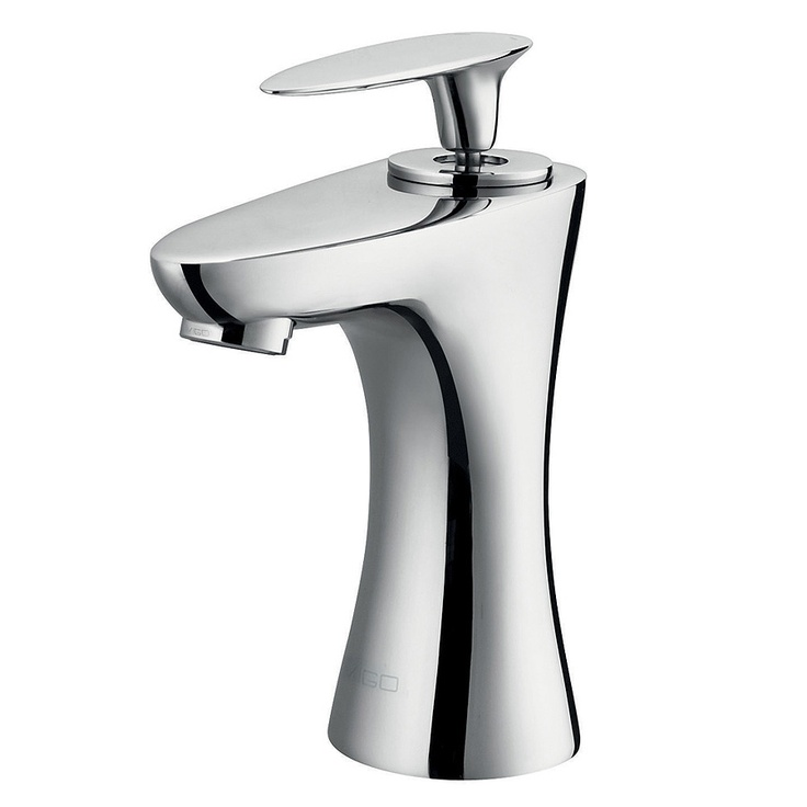 Bathroom Sink Faucets   Single Hole For Undermount Sink Vigo Ava Single  Lever Chrome Finish Faucet In Faucets