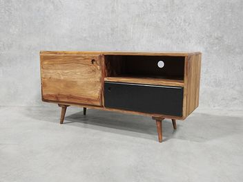A perfect mid height TV stand, shows off its eye catching design and stylish retro finishes,