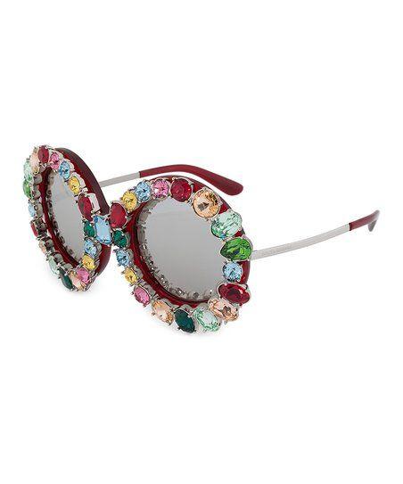 Dolce & Gabbana Multi-Color & Silver Mirror Limited-Edition Round Sunglasses   zulily