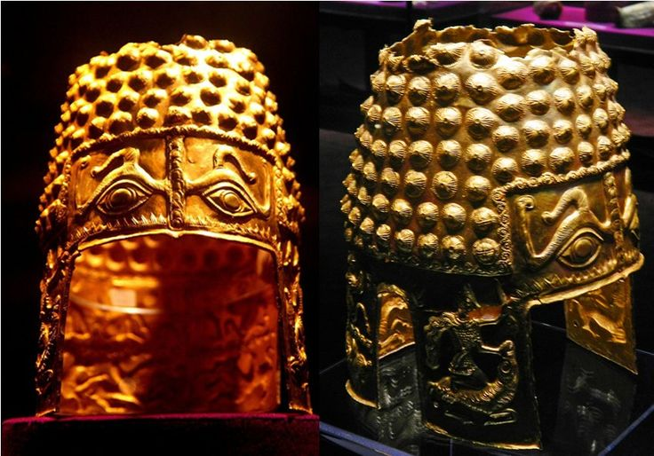 Image Of The Day - Ancient Dacian Gold Helmet With Piercing Evil Eyes - MessageToEagle.com