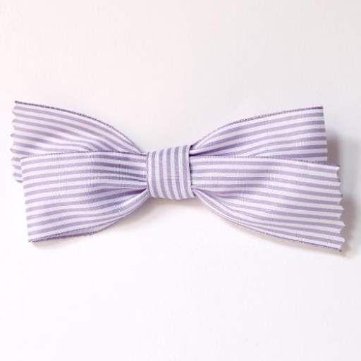 lazo rayas lila blanco