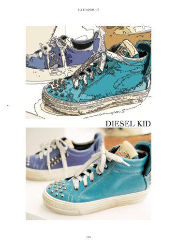 Pitti Bimbo 76 Fair - Focus on Sneakers by the way. Diesel Kid. #shoes #childrenshoes #Dieselkid