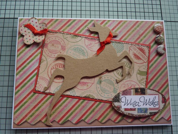cwc papers and tim holtz reindeer