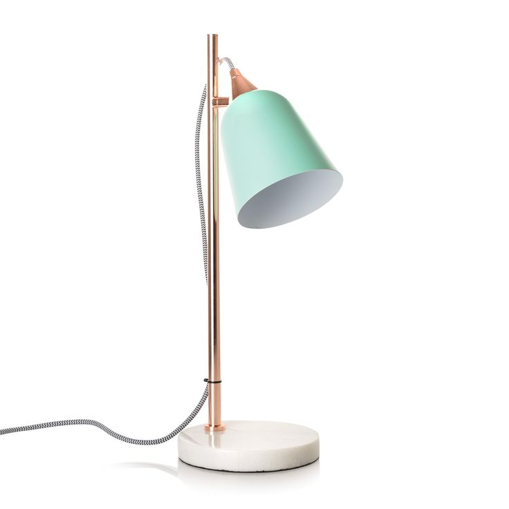 Buy the Mint Table Lamp with Marble Base at Oliver Bonas. Enjoy free UK standard delivery for orders over £50.