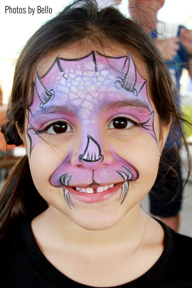 Triceratops Face Paint