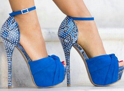 Tacones azul