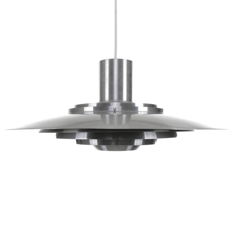 KASTHOLM - pendant by Fabricius & Kastholm, Nordisk Solar Compagni, 1964. Danish Mid Century design. Large timeless aluminum hanging light by DanishVintageDesigns on Etsy