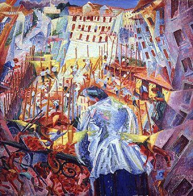 La strada entra nella casa, Umberto Boccioni, 1911