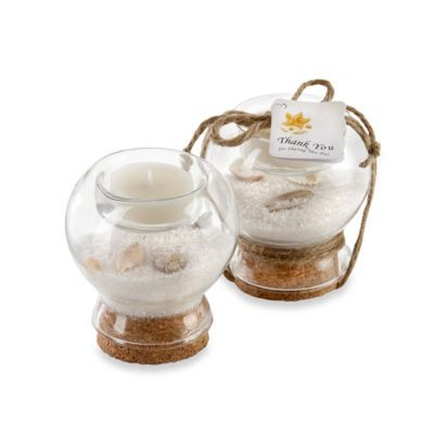 Kate Aspen® Sand and Shell Tealight Holder Favor - BedBathandBeyond.com $3.49