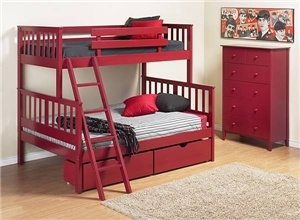 Oh, pretty red bed you are soooo coming to my house to live in my little boy's room!: Kids Beds, Kid Beds, For Kids, Kids Bedroom, Bunk Beds, Bedroom Furniture, Boys, Kids Rooms Shared