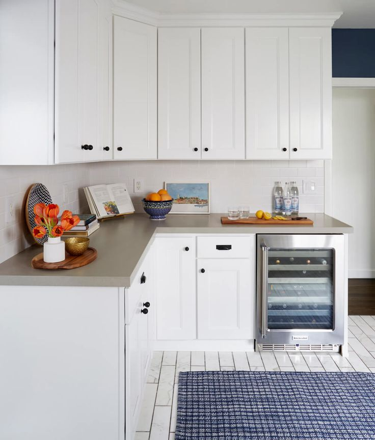 Traditional Eclectic Kitchen: The Big Reveal, tulips cut shorter in a smaller vase