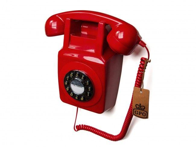 GPO 746 Muurtelefoon Rood - Telefonie - 123platenspeler.nl