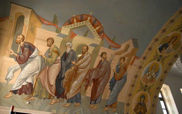 Роспись в алтаре Евхаристия