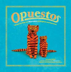 Beautiful and whimsical authentic hand-painted animals from Oaxaca teach kids about opposites in Spanish and English!