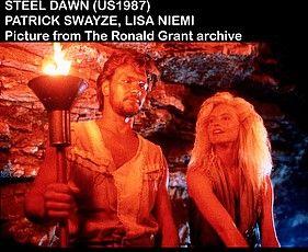 STEEL DAWN US 1987  PATRICK SWAYZE LISA NIEMI     Date 1987 - stock image