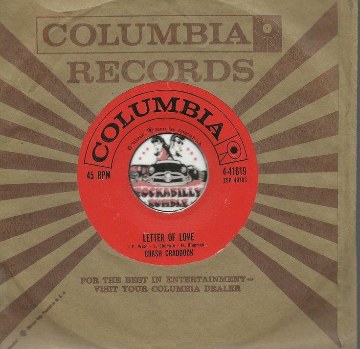 billy crash craddock letter of love rockabilly bopper 45 rpm vinyl record nm price us. Black Bedroom Furniture Sets. Home Design Ideas