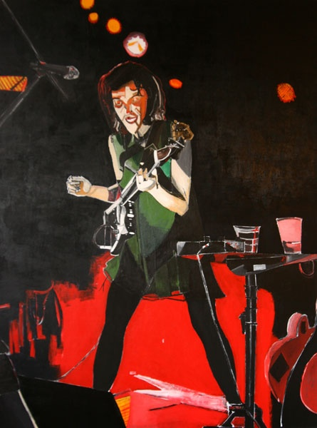 St. Vincent at Old Rock House.  Painting by Dana Smith  http://danarichardsmith.com/