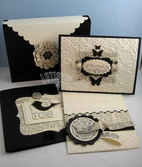 shabby chic type cards