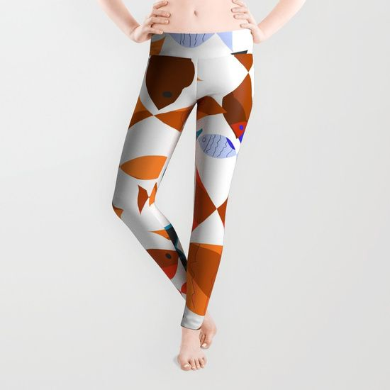 Red Fishes Leggings